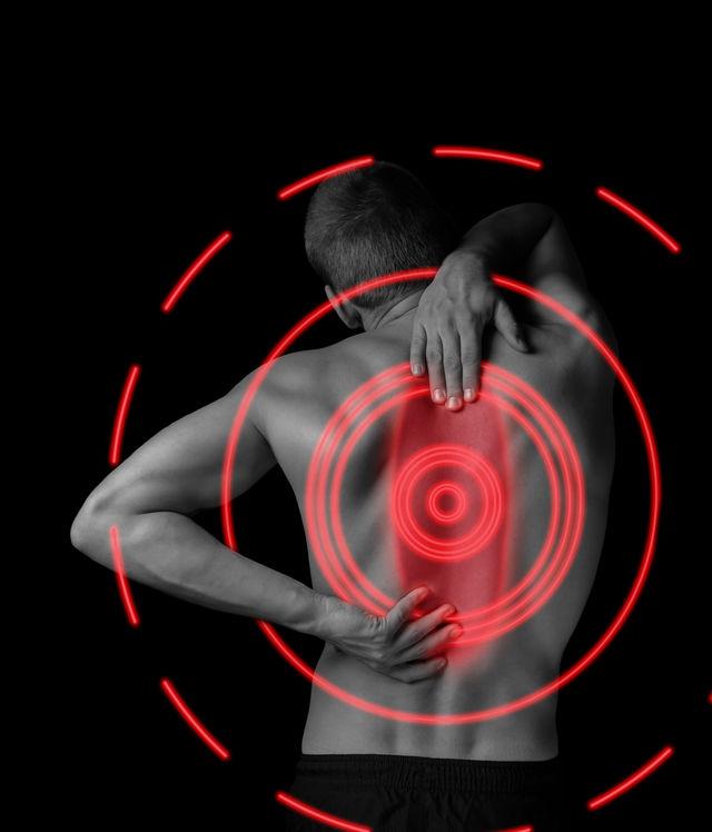 lage rugpijn, goed te behandelen met massage en acupunctuur.